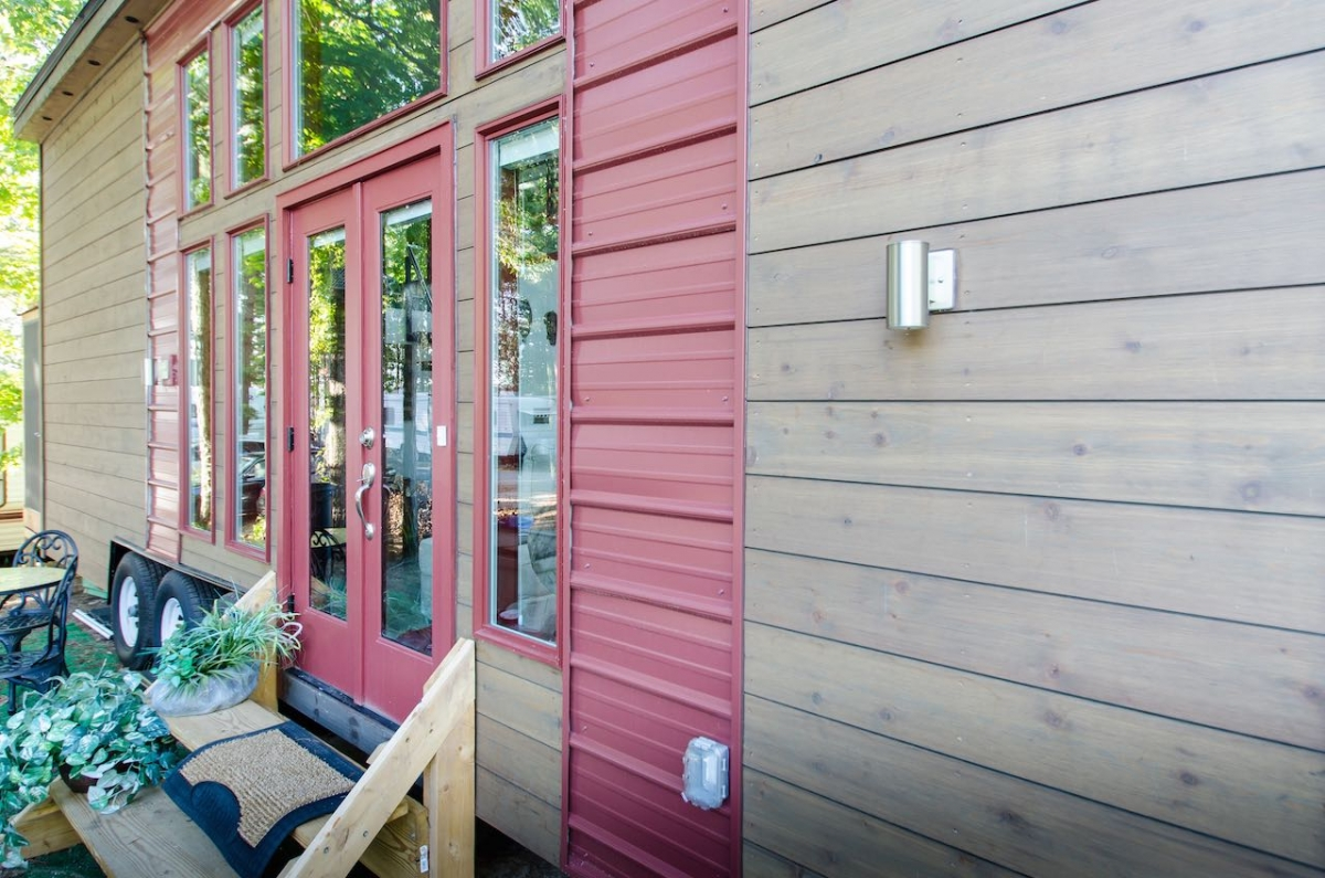 A Tiny House On Wheels In Charlotte North Carolina